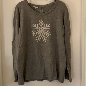 Whimsical snowflake sweater